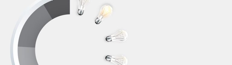 Global brand image lightbulbs card